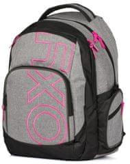 Karton P+P plecak szkolny OXY Style Grey Line Pink