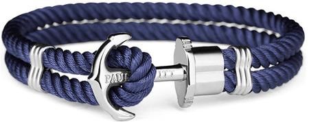 Paul Hewitt Podwójnie niebieski bransoletka z kotwą PH-PH-NSN (długość 21 cm)