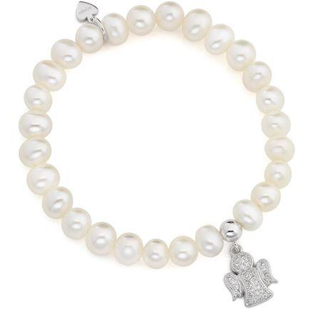 Amen Gyöngy karkötő cirkónium kövekkel Angels BRPA ezüst 925/1000
