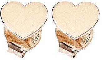 Amen Srebrni uhani z roza pozlačeno molijo, ljubezen ORHR srebro 925/1000