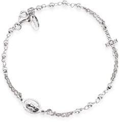 Amen Izvirna srebrna zapestnica z cirkoni Rosary BROBZ3 srebro 925/1000
