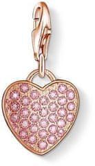 Thomas Sabo Ezüst medál Rózsaszín szív 1066-416-9 ezüst 925/1000