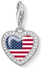 Thomas Sabo Srebrny wisiorek American Heart 1142-628-7 srebro 925/1000