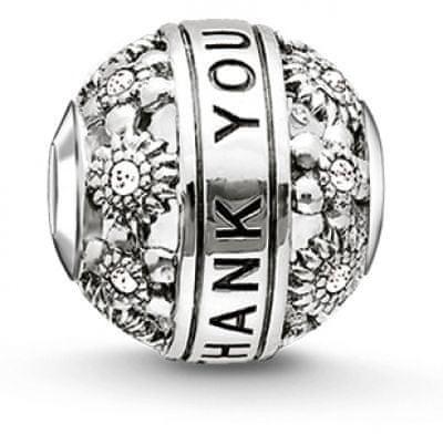 Thomas Sabo Ezüst gyöngy Köszönöm K0213-643-14 ezüst 925/1000