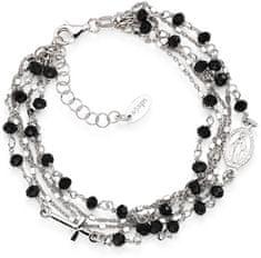 Amen Izvirna srebrna zapestnica s kristali Rosary BRMF srebro 925/1000