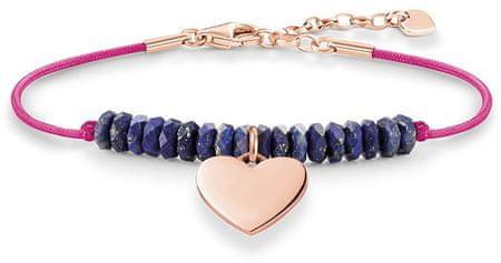 Thomas Sabo Rózsaszín karkötő kék gyöngyökkel és szívvel LBA0081-906-1-L19,5v ezüst 925/1000