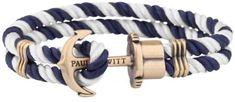 Paul Hewitt Podwójne, dwukolorowe bransoletka z kotwą PH-PH-N-NW