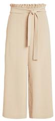 VILA Dámske nohavice Virasha Hw Cropped Wide Pant Pb/Kl Soft Camel