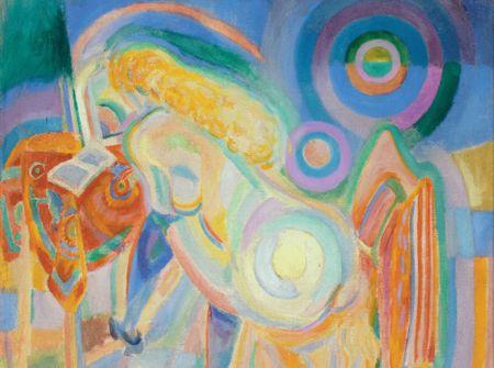 Grafika Puzzle 2000 db Robert Delaunay : Femme Nue Lisant, 1920