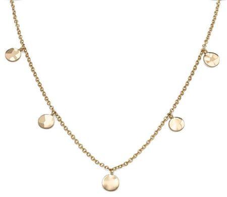 Rosefield Pozlačena jeklena ogrlica s kovancem Iggy JTCWG-J096