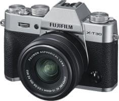 FujiFilm X-T30 fotoaparat + XC 15-45 mm objektiv
