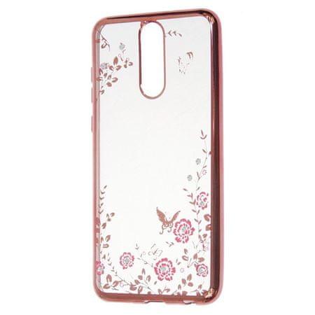 ovitek z rožicami za Samsung Galaxy S10 G973, silikonski, roza