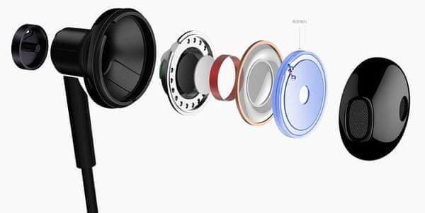 Xiaomi Mi Dual Driver Earphones márkás kábeles fülhallgató, magas tartomány, minőségi hangzás