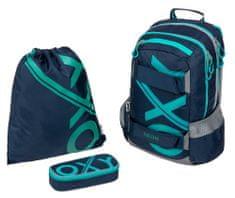 Karton P+P zestaw szkolny OXY Sport BLUE LINE Tyrkys