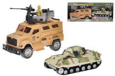 Mikro hračky Auto vojenské + tank
