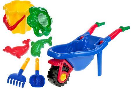 Mikro hračky Fúrik + súprava na piesok 6ks