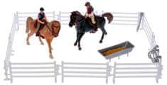 Mikro hračky Konie z jeźdźcami 13cm 2szt z akcesoriami w pudełku