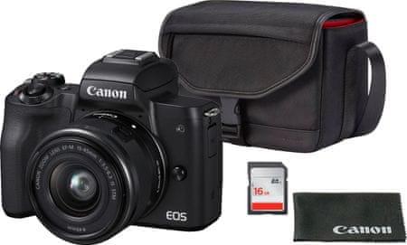 CANON EOS M50 + 15-45 + SB-130 + 16GB kártya (2680C064)