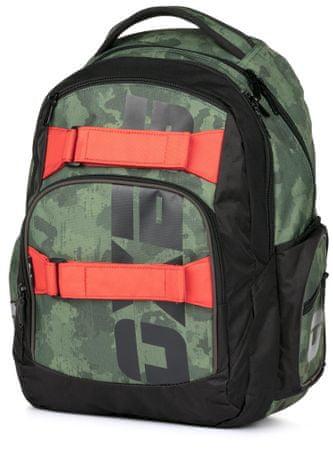 Karton P+P šolski nahrbtnik OXY Style Army, vojaški motiv - Odprta embalaža