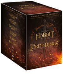 Kolekce STŘEDOZEMĚ - Komplet ságy Hobit a Pán prstenů v prodloužené verzi (36DVD) - DVD