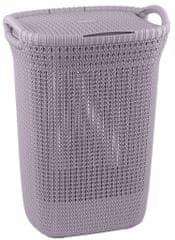 CURVER koš na prádlo KNIT 57l světle fialový