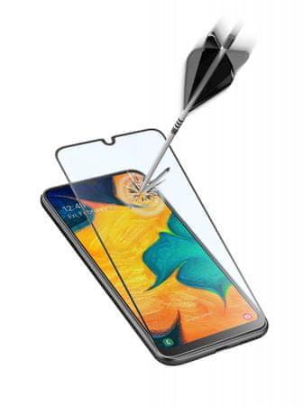 CellularLine zaščitno steklo za Samsung Galaxy A40, črno