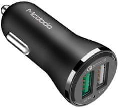 Mcdodo Nabíječka do auta s 2× USB s 1× QC 3.0 bez kabelu, 2.4A, černá, CC-4910