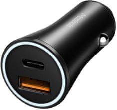Mcdodo Nabíječka do auta s 1× USB a 1× USB-C s QC 3.0, černá, CC-5221