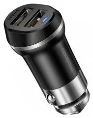 Mcdodo Jazz nabíječka do auta s 2× USB, bez kabelu, 5 V / 3.4A, černá, CC-5351