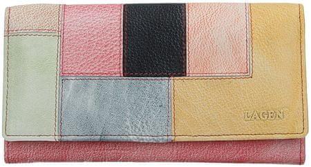Lagen Női bőr pénztárca V-17/D Lipstick/Multi