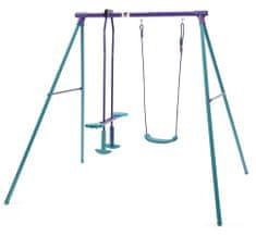 PLUM huśtawka metalowa dla dzieci 2w1 210 x 178 x 183 cm