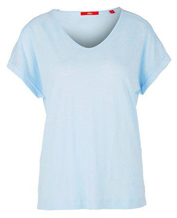b3a05dc8b06a s.Oliver Dámske tričko 14.905.32.4905.5068 Ice (Veľkosť 34)