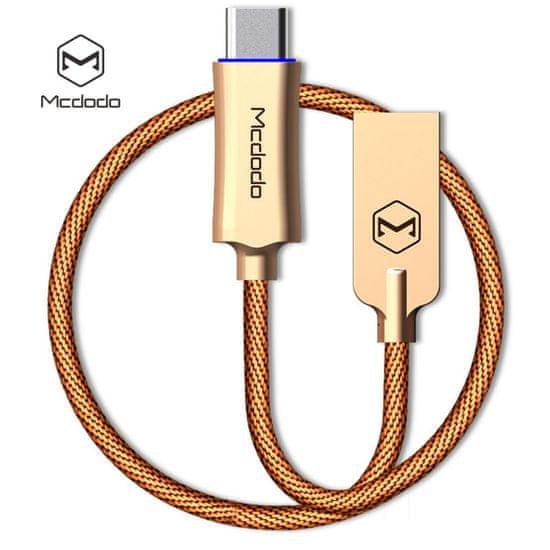 Mcdodo Knight Type-C rychlonabíjecí datový kabel s inteligentním vypnutím napájení, 1 m, zlatá, CA-2880
