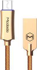 Mcdodo Knight Micro USB datový kabel s inteligentním vypnutím napájení, 1 m, zlatá, CA-2890