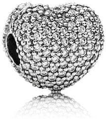 Pandora Błyszczące Serce Srebrnego Koralika 791427 CZ srebro 925/1000