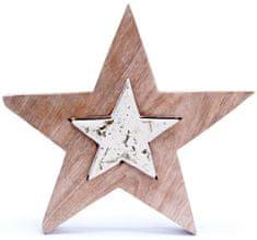 """Sifcon Vánoční dekorace """"PUZZLE"""" ve tvaru hvězdy, 21cm"""