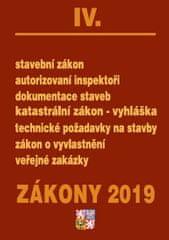 Zákony IV/2019 - úplné znění - stavební zákon, katastrální zákon, zákon o vyvlastnění