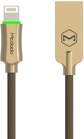 Mcdodo Knight Lightning datový kabel s inteligentním vypnutím napájení, 1,8 m, zlatá, CA-3903