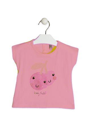 Losan dívčí tričko 68 růžová