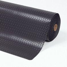 Černá protiúnavová průmyslová laminovaná rohož Cushion Trax - 1,4 cm