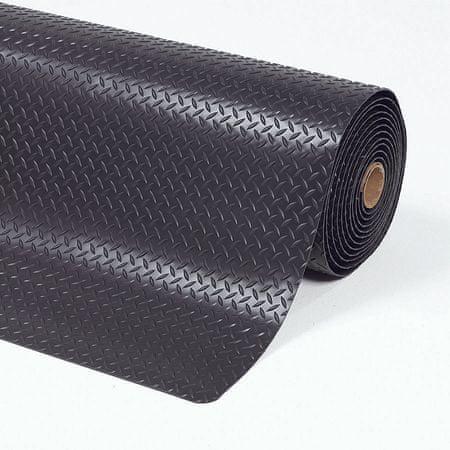 Černá protiúnavová průmyslová laminovaná rohož Cushion Trax - 150 x 91 x 1,4 cm