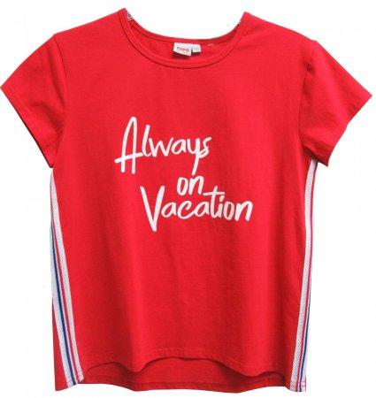 Topo koszulka dziewczęca 164 czerwona