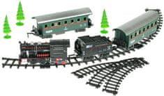 Mikro hračky Vláčik s vagónmi 66cm + dráha 110cm na batérie so zvukom s doplnkami