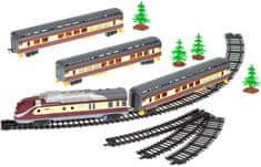Mikro hračky Vláčik s vagónmi 110cm + dráha 194cm na batérie so svetlom a zvukom