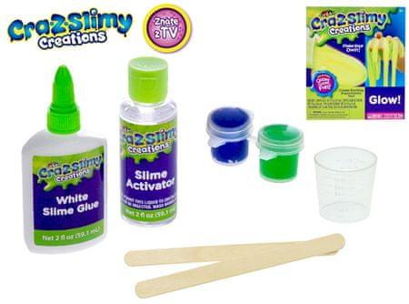 Mikro hračky zestaw do produkcji slime Cra-z-slimy świeci w ciemności, z akcesoriami w pudełku