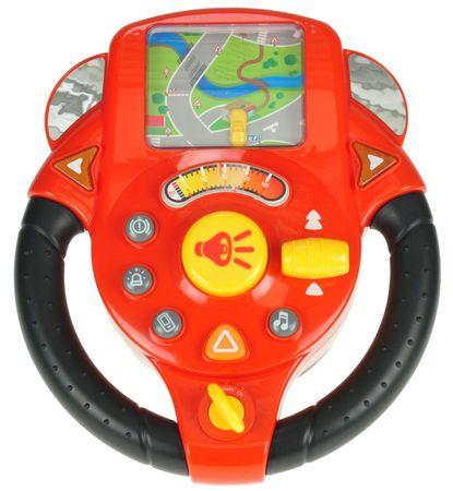 Mikro hračky Volant závodní na baterie se světlem a zvukem