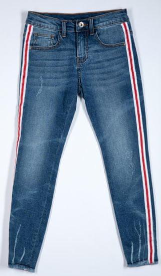 Topo dievčenské nohavice 128 modrá