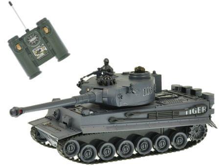 Mikro hračky RC tank 26cm 1:28 40MHz šedý na baterie