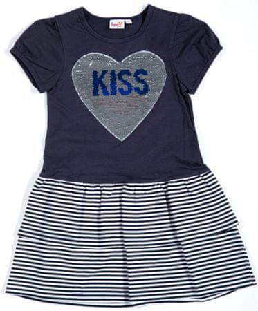 Topo dívčí šaty 110 modrá