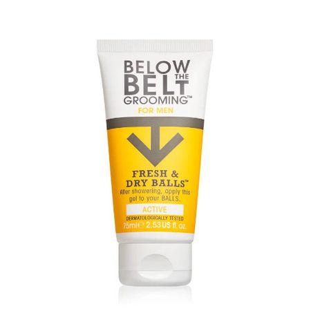 Below the belt Gél na intímne partie pre mužov Active ( Fresh & Dry Balls) 75 ml